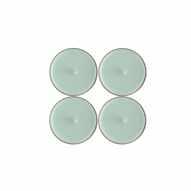 Tealights grandes Verde Claro (pack de 4)