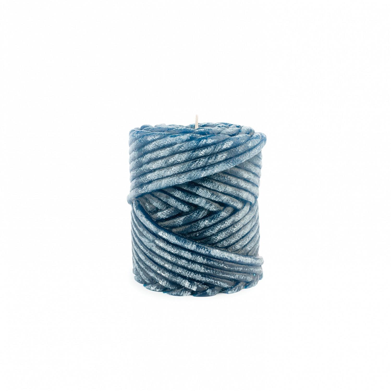 Vela rolo da corda cor azul
