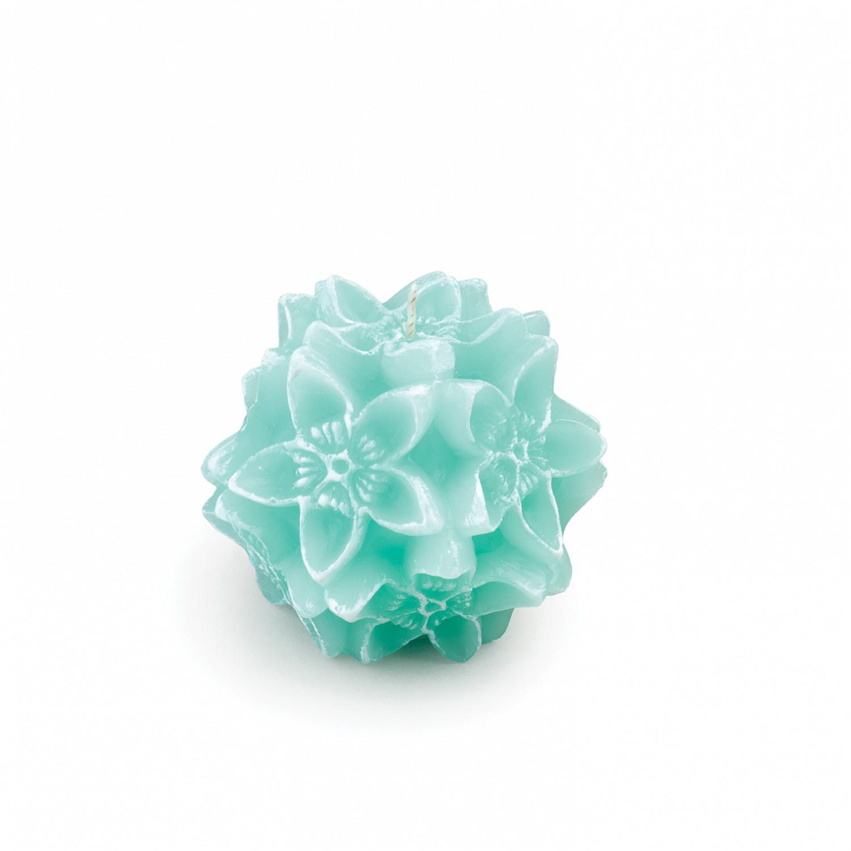 Vela flor origami cor verde