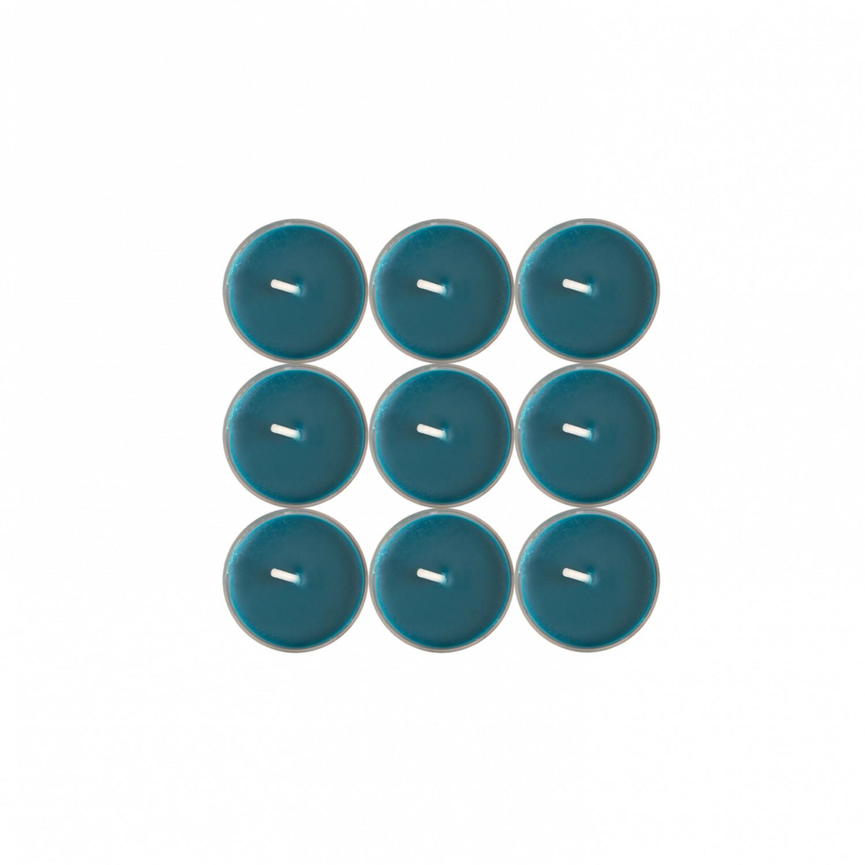 Tealights Azul Petróleo (pack de 9)