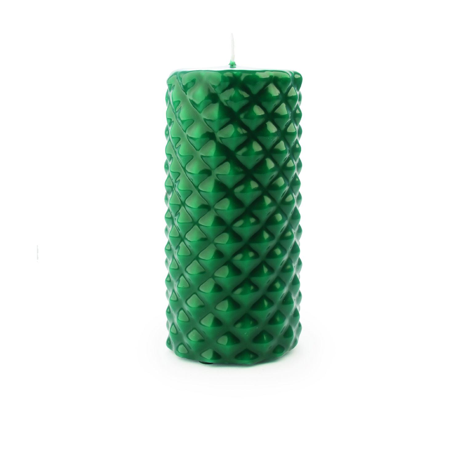 Vela pilar picos média verde escuro