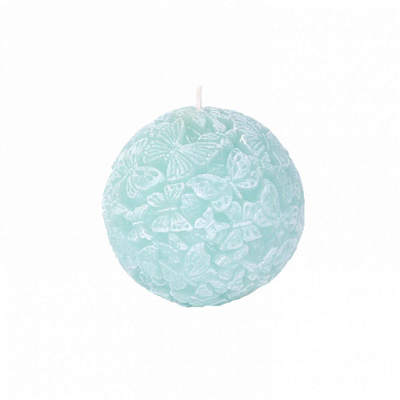 Vela esfera Borboletas cor verde