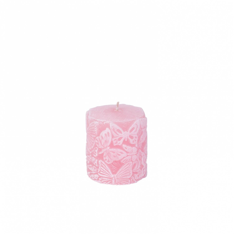 Pilar pequeno Borboletas rosa