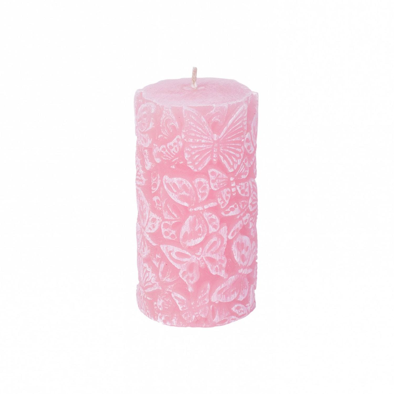 Pilar Borboletas médio rosa