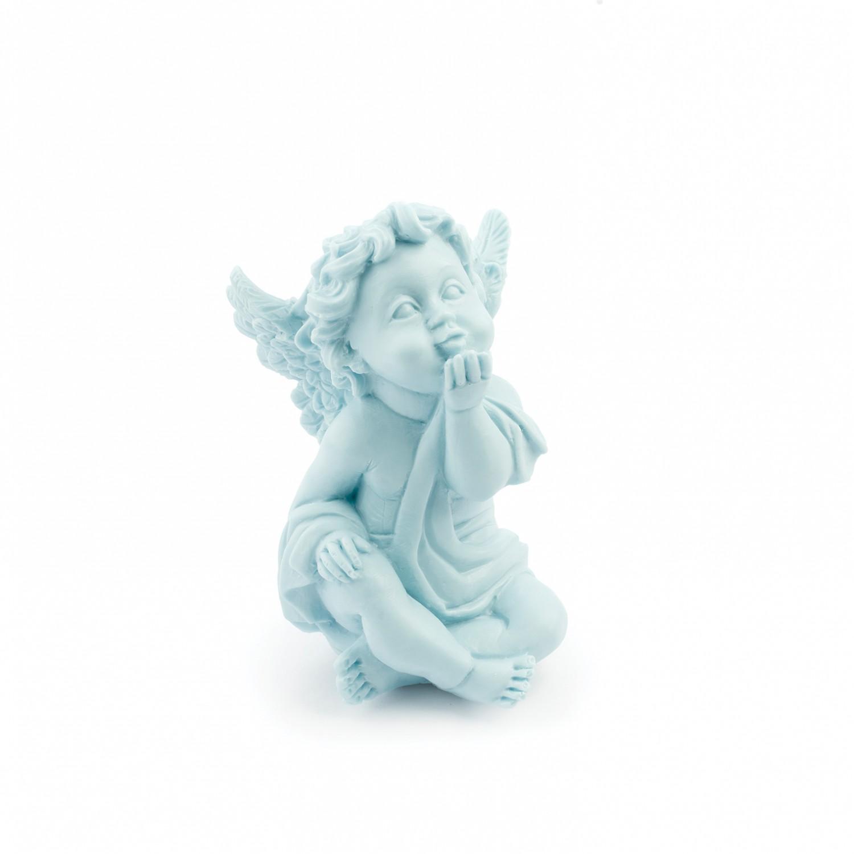 Peça decorativa aromática Anjo cor azul