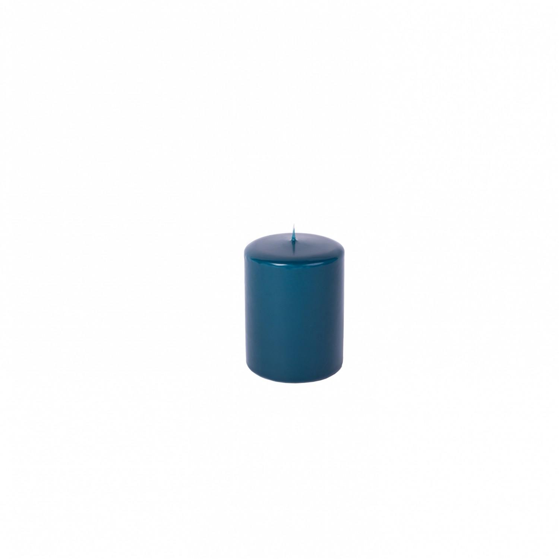Vela pilar pequena Azul Petróleo