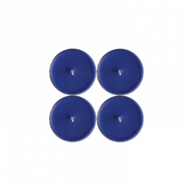 Tealights grandes Azul Escuro (pack de 4)