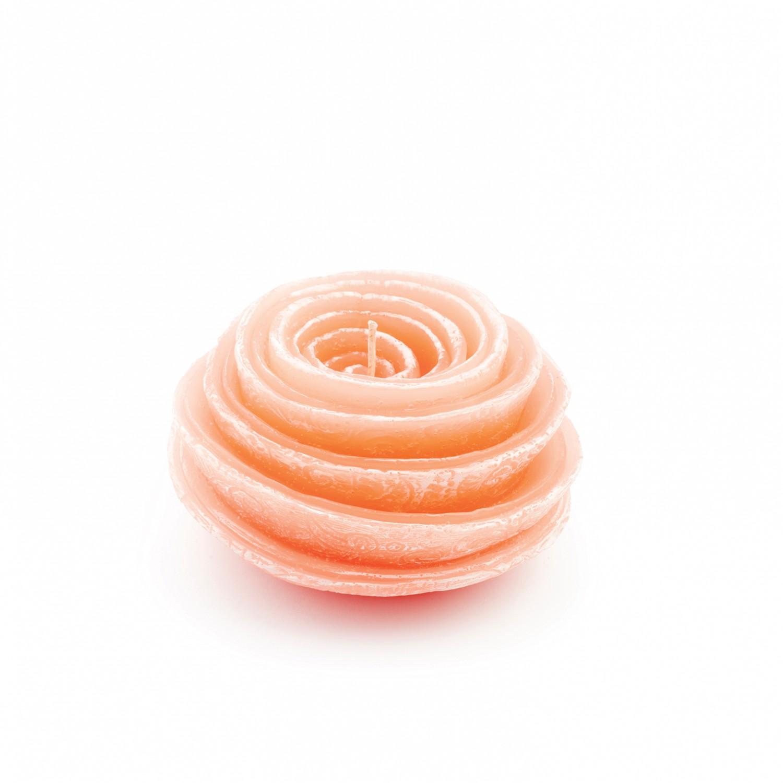 Vela flor espiral cor coral