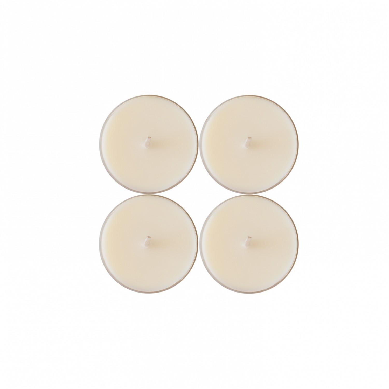 Tealights grandes cor Marfim (pack de 4)