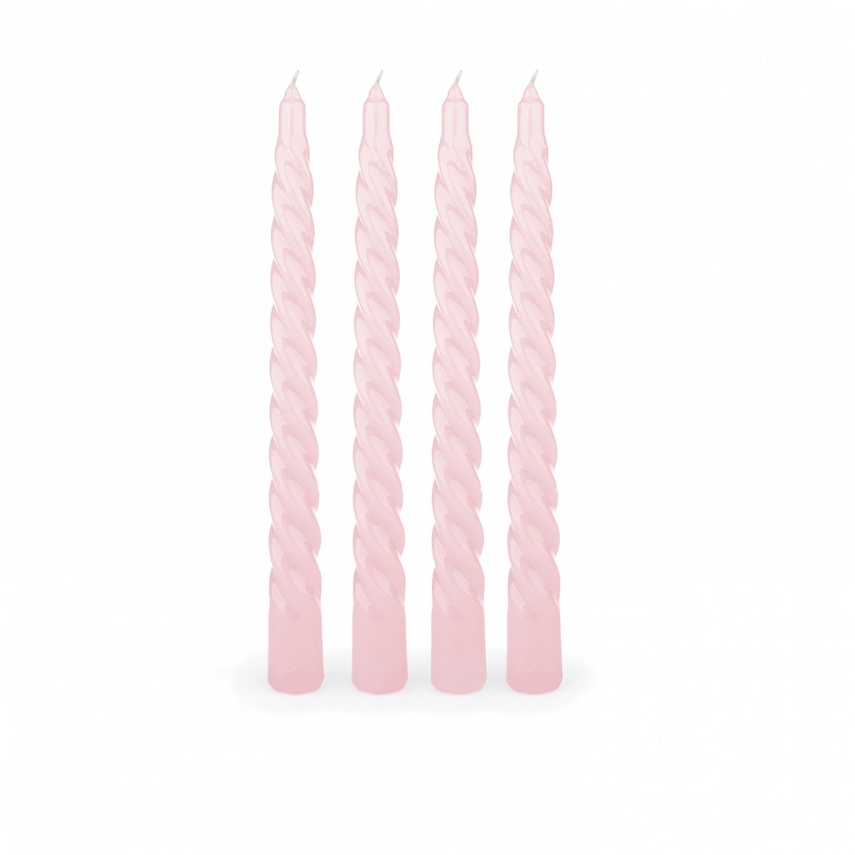 Tapers torcidas cor rosa (pack de 4)