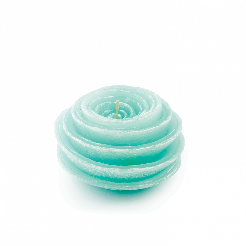 Vela flor espiral cor verde